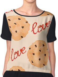 Cookies pattern. Sweet pattern Chiffon Top