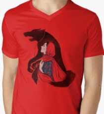 Taming of the wolf Men's V-Neck T-Shirt