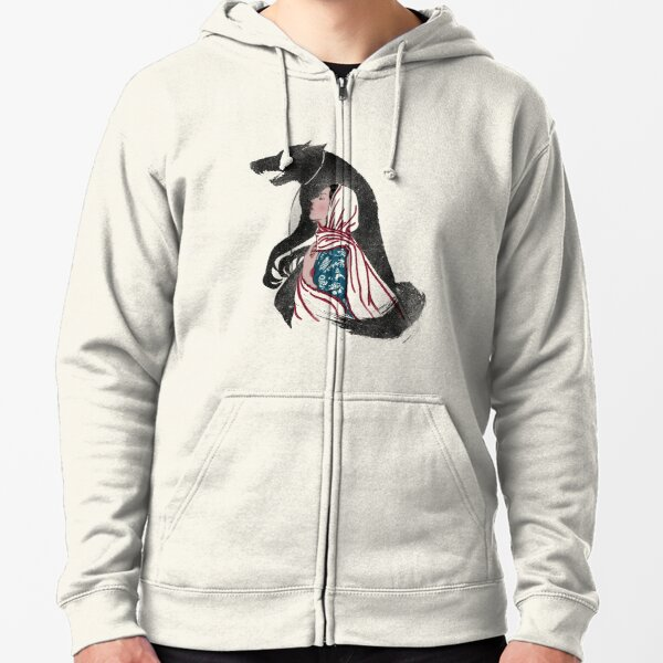 Taming of the wolf Zipped Hoodie