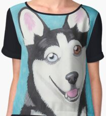 Husky Women's Chiffon Top