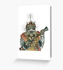 Steampunk Bird Sky Patrol Greeting Card