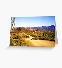 Winding through the Flinders Ranges Greeting Card