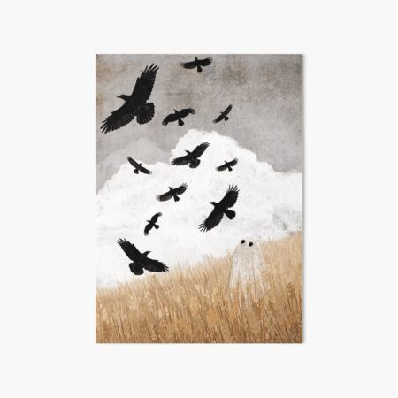 Walter and The Crows Art Board Print
