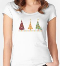 Merry Christmas! Fitted Scoop T-Shirt