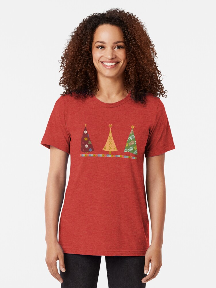 Alternate view of Merry Christmas! Tri-blend T-Shirt