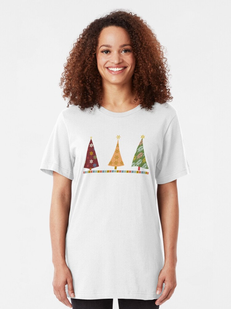 Alternate view of Merry Christmas! Slim Fit T-Shirt