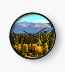 Pikes Peak in Autumn Clock