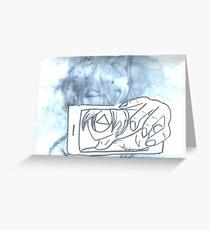 Blurred Self(ie) Greeting Card