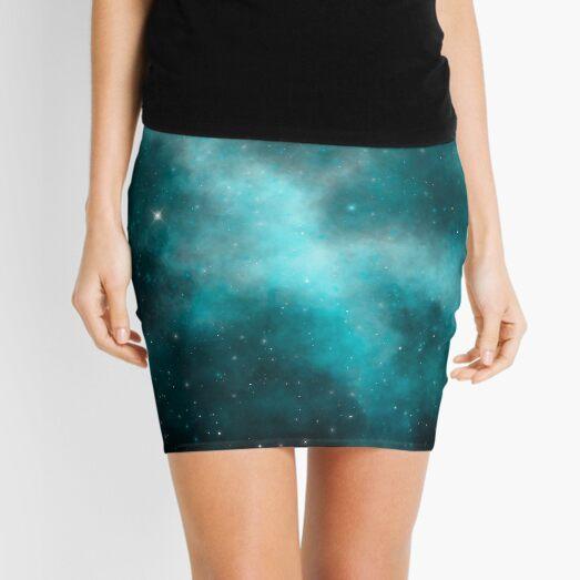 Teal Galaxy 2 Mini Skirt
