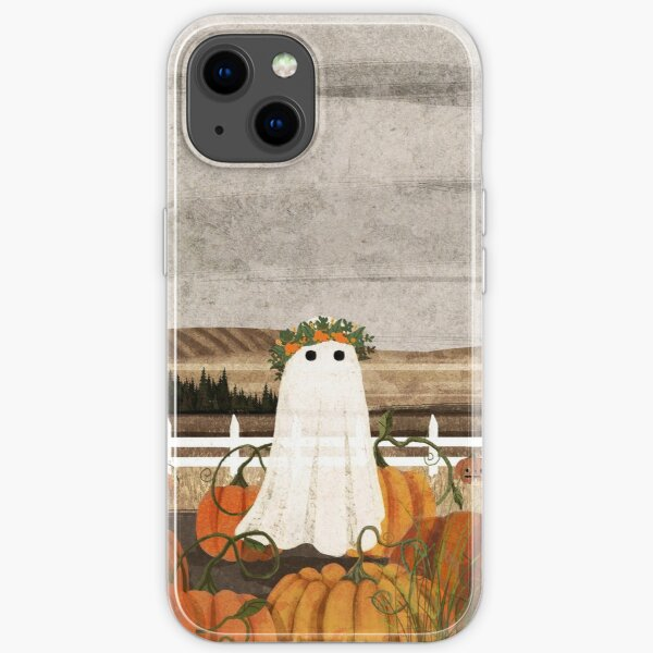 There's a Ghost in the Pumpkins Patch Again... iPhone Soft Case