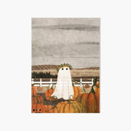 There's a Ghost in the Pumpkins Patch Again... Art Board Print