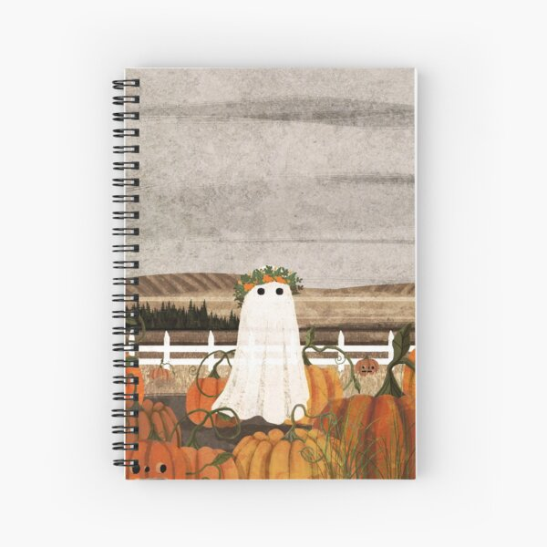 There's a Ghost in the Pumpkins Patch Again... Spiral Notebook