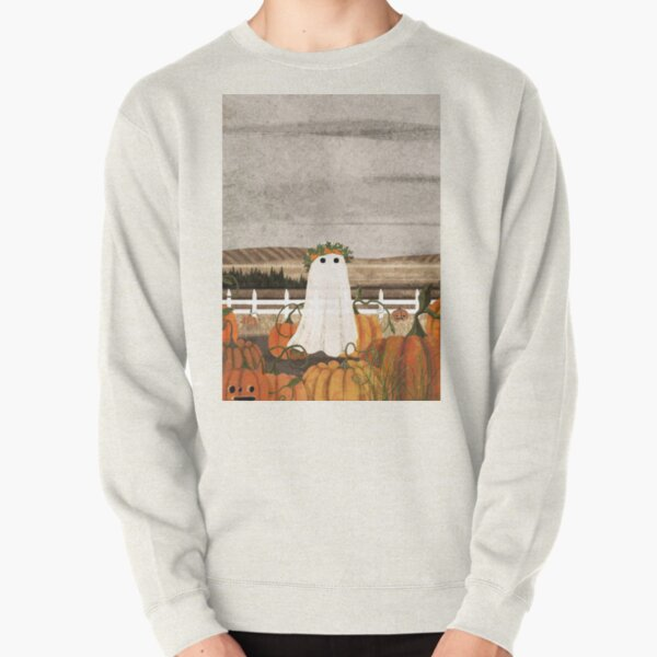 There's a Ghost in the Pumpkins Patch Again... Pullover Sweatshirt