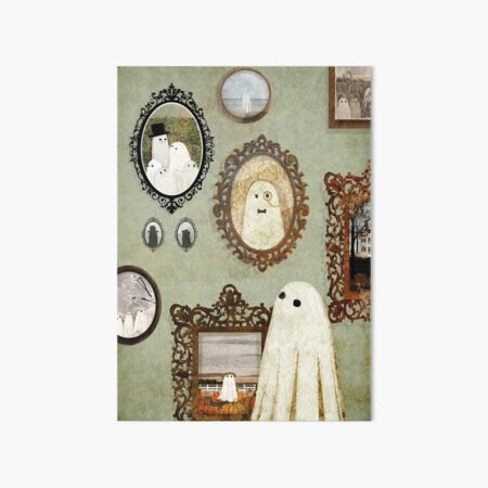 There's A Ghost in the Portrait Gallery Art Board Print