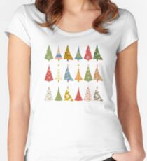 Christmas Trees Fitted Scoop T-Shirt