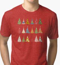 Christmas Trees Tri-blend T-Shirt