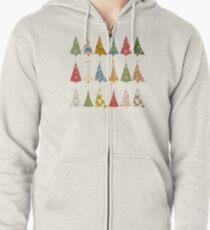 Christmas Trees Zipped Hoodie