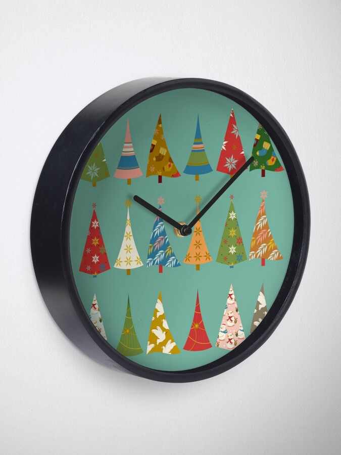 Alternate view of Christmas Trees Clock