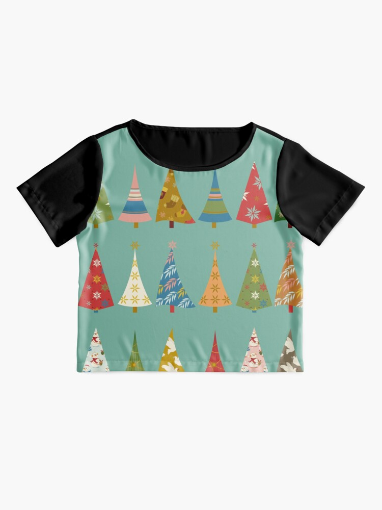 Alternate view of Christmas Trees Chiffon Top
