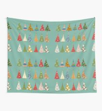 Christmas Trees Wall Tapestry