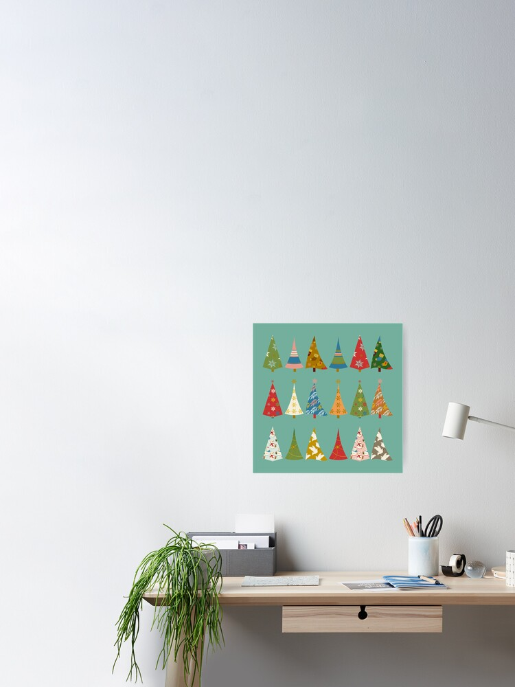 Alternate view of Christmas Trees Poster