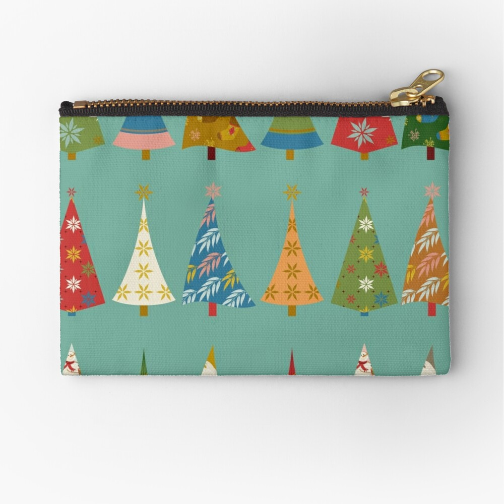 Christmas Trees Zipper Pouch