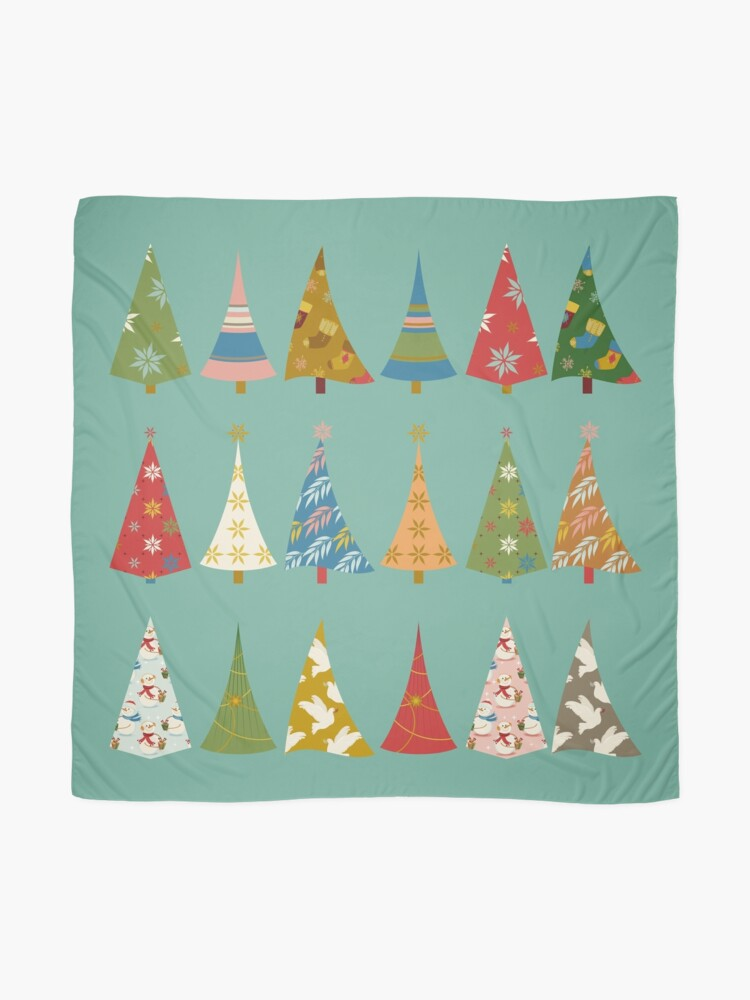 Alternate view of Christmas Trees Scarf