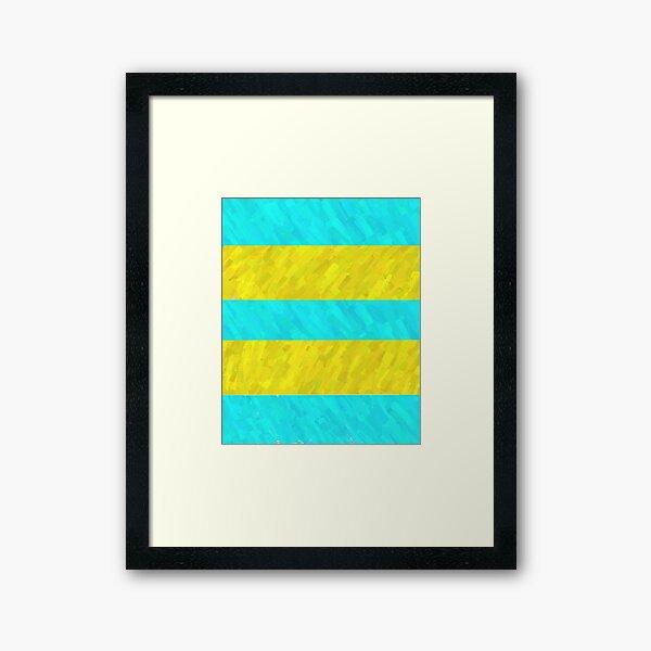 Water and Beach Stripes Framed Art Print