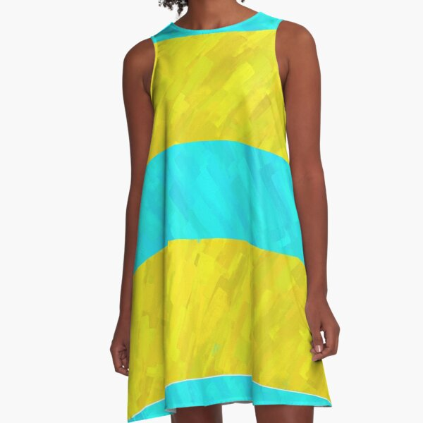 Water and Beach Stripes A-Line Dress