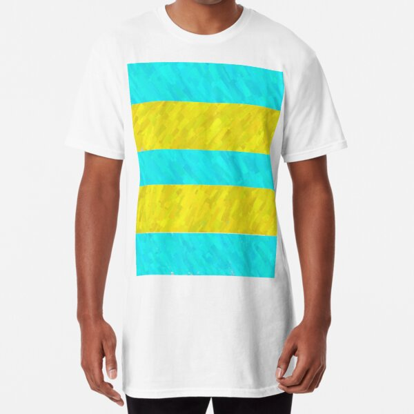 Water and Beach Stripes Long T-Shirt