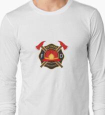 Retired Firefighter Badge - Fireman Rescue Hero  Long Sleeve T-Shirt