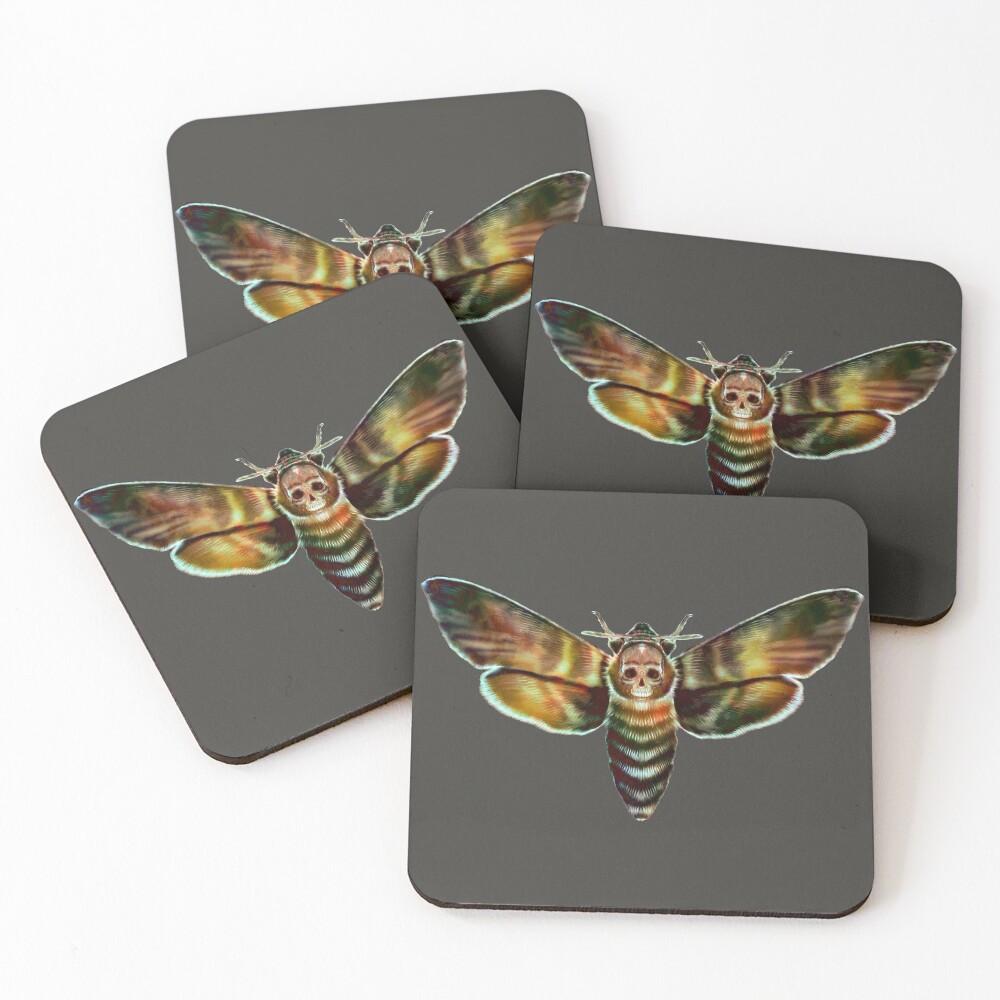 Death Moth Coasters (Set of 4)