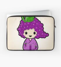 Grape Kokeshi Doll Laptop Sleeve
