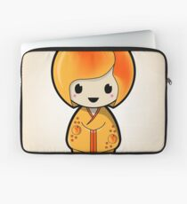 Peach Kokeshi Doll Laptop Sleeve