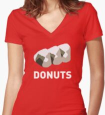 Jelly Donut Women's Fitted V-Neck T-Shirt