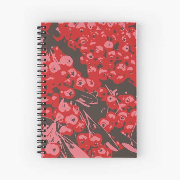 Pyracantha Illustration Spiral Notebook