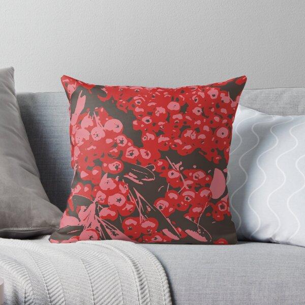 Pyracantha Illustration Throw Pillow
