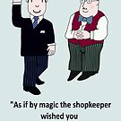 Mr Benn and the Shopkeeper 'Birthday' by Grainwavez