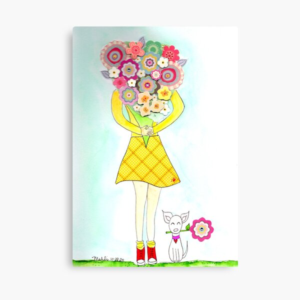 A big handful of flowers Canvas Print