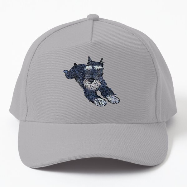 Funny miniature schnauzer, cute puppy face Baseball Cap