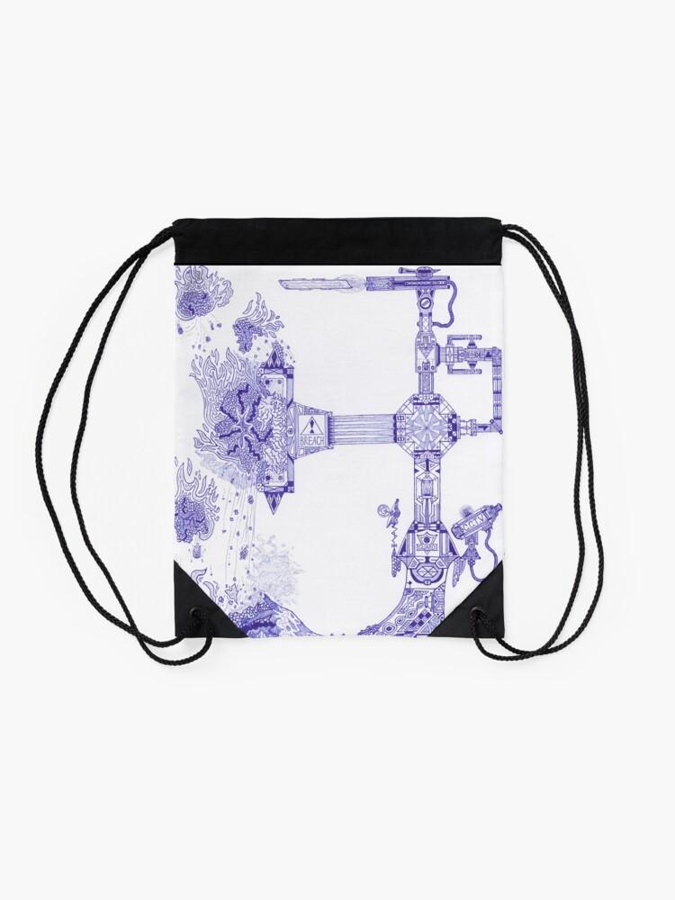 Alternate view of M.I. #13 |☽| The Molten-Mechanical Clash. Drawstring Bag