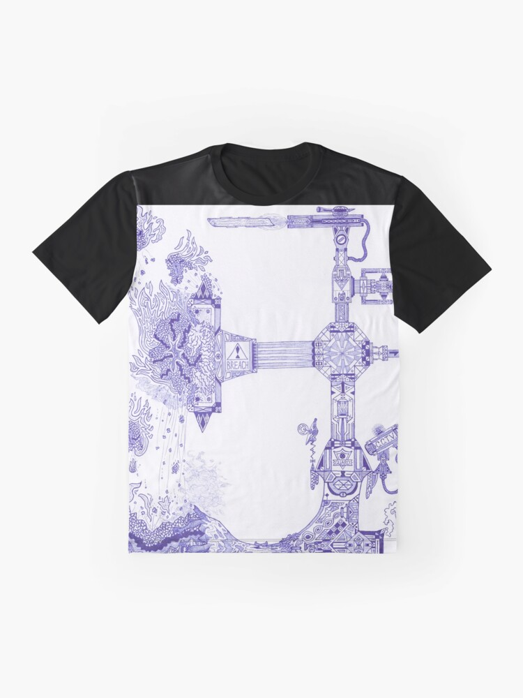 Alternate view of M.I. #13 |☽| The Molten-Mechanical Clash. Graphic T-Shirt