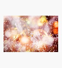 Blurred Christmas Lights and Sparkles Photographic Print