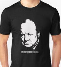 Winston Churchill Portrait Unisex T-Shirt