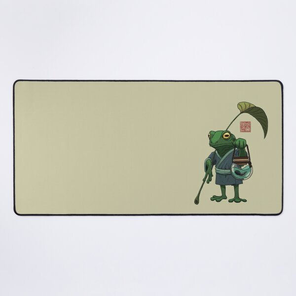 A Frog and His Son Desk Mat