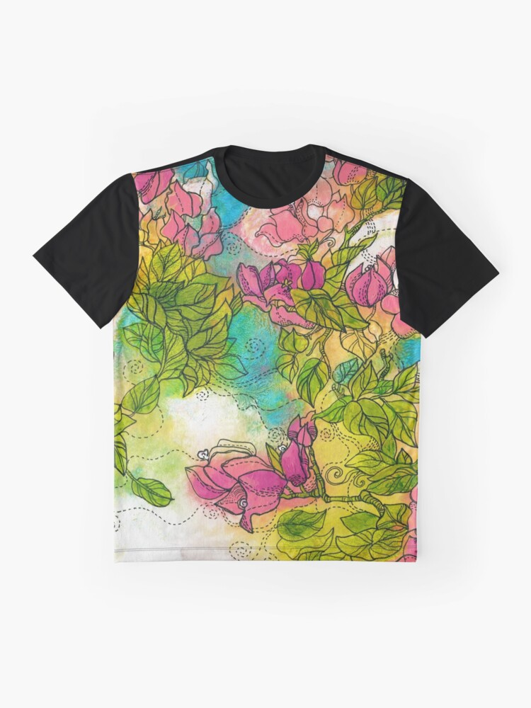 Alternate view of Tropical Flowers Graphic T-Shirt