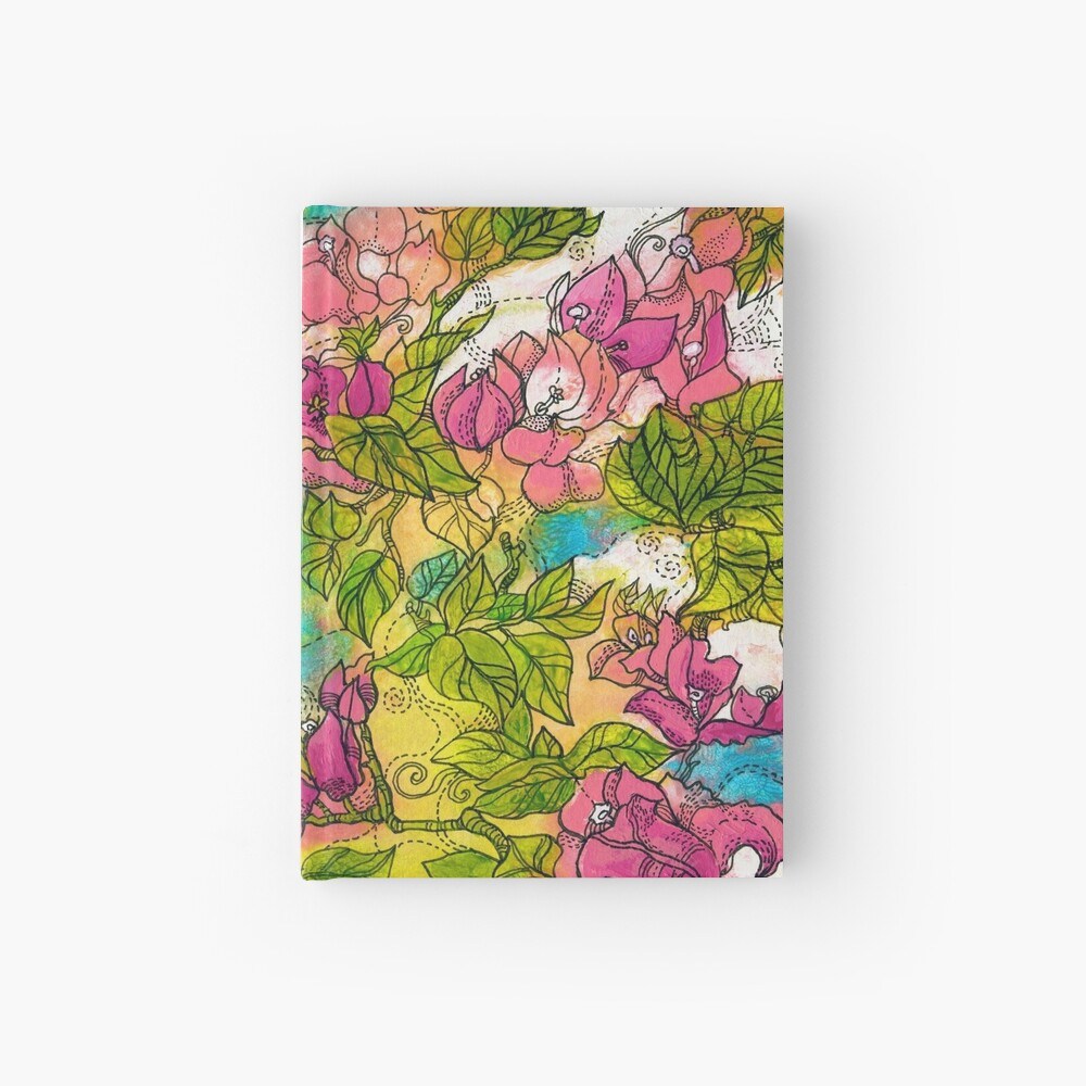 Tropical Flowers Hardcover Journal