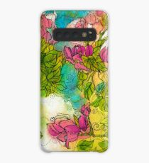 Tropical Flowers Case/Skin for Samsung Galaxy