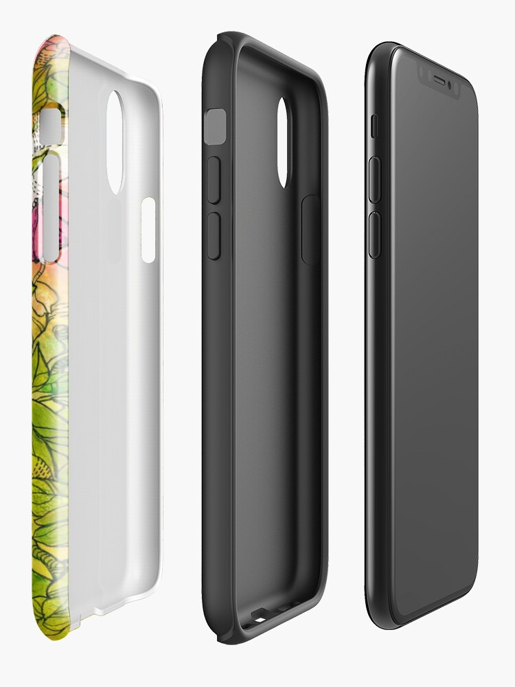 Alternate view of Tropical Flowers iPhone Case & Cover