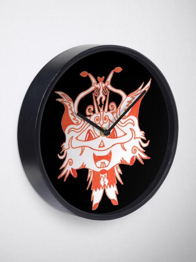 Alternate view of M.I. #41  ☽  Fancy Fox Face Clock